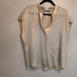 Vince gold silk blouse size S